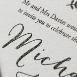 Fleur Wedding Invitation Card