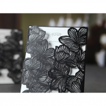 Gate style black floral sleeve with shimmer paper as insert