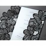 Black gate floral details zoomed in