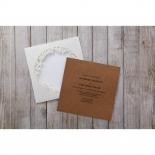 Square wedding invite with laser cut garden invitations