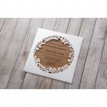 Enchanted forest brown and white invitation