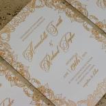 Flourishing Garden Frame Wedding Invite Card