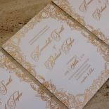 Flourishing Garden Frame Wedding Invite Design