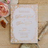 Flourishing Garden Frame Wedding Card