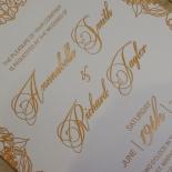 Flourishing Garden Frame Wedding Invitation Card Design