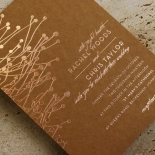 Flourishing Romance Invitation Card
