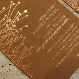 Flourishing Romance Wedding Invitation Card