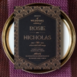 Gatsby Glamour Stunning invitation card