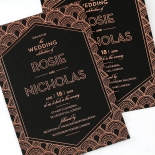 Gatsby Glamour Wedding Invite