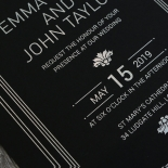 Gilded Decadence Invitation Card Design