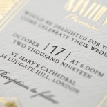 Gilded Glamour Wedding Invite Card