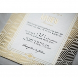 Gilded Glamour Invite Card