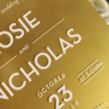 Gold Chic Charm Acrylic Invitation Design