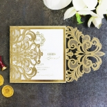 Gold Foil Baroque Gates Wedding Invitation Design
