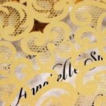 Golden Baroque Pocket Wedding Invite Card