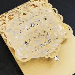 Golden Baroque Pocket Invite Card