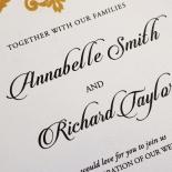 Golden Baroque Pocket Wedding Card
