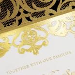 Golden Baroque Pocket with Foil Card Design