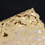 Golden Baroque Pocket with Foil Invitation Card Design