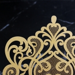 Golden Baroque Pocket with Foil Wedding Invitation Card Design