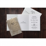 Classic style golden invitation with three printable panels