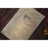Golden wedding party card with foiled cover