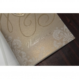 Foil printed gold party invitation card with glossy finish