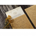 Golden Charisma Wedding Invite