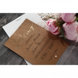 Golden Country Lace With Twine Invite Card Design