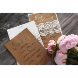 Golden Country Lace With Twine Card Design