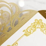 Golden Divine Damask Invitation Card Design