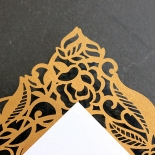 Golden Floral Lux Invite Card