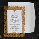 Golden Floral Lux Invite