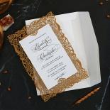 Golden Floral Lux Invitation Card