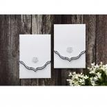 Graceful Ivory Pocket Wedding Invite Card