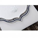 Graceful Ivory Pocket Invite Card Design