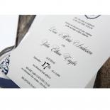 Graceful Ivory Pocket Invite Card