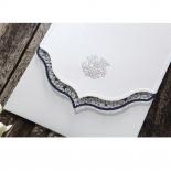 Graceful Ivory Pocket Invitation Card Design