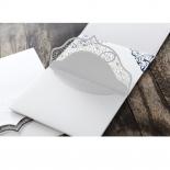 Graceful Ivory Pocket Invitation Design