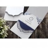 Graceful Ivory Pocket Wedding Card