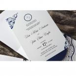 Graceful Ivory Pocket Wedding Invitation Card Design