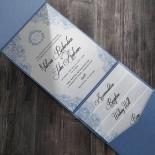 Graceful Wreath Pocket Wedding Card