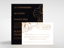 Grand Flora Stunning invitation card