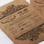 Hand Delivery Invite Card Design