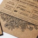 Hand Delivery Invitation Card Design