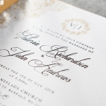 Imperial Glamour Wedding Invite Card