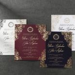Imperial Glamour Wedding Invitation Card Design
