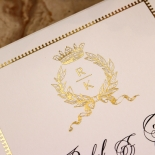 Ivory Doily Elegance with Foil Invite Design