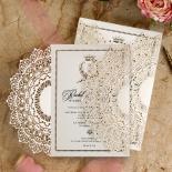 Ivory Doily Elegance with Foil Design