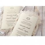 Ivory Victorian Charm Wedding Card Design